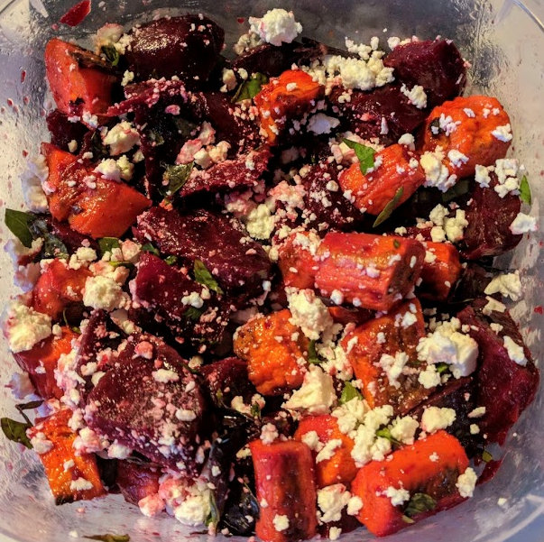 Beet, Butternut and Carrot Salad